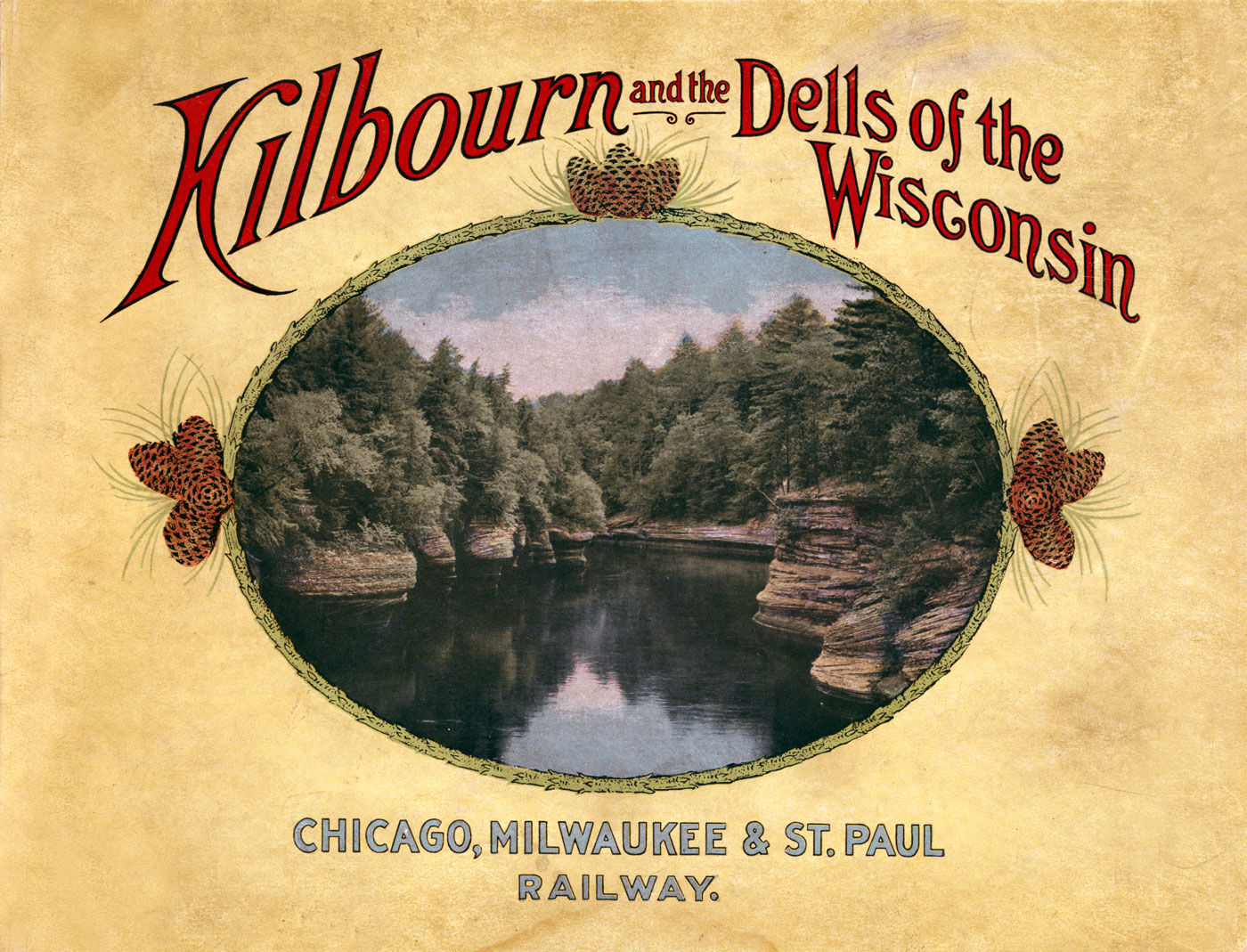 Advertisement for the Chicago, Milwaukee, & St. Paul Railway, circa 1906