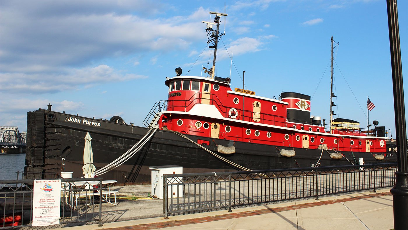tugboat docked