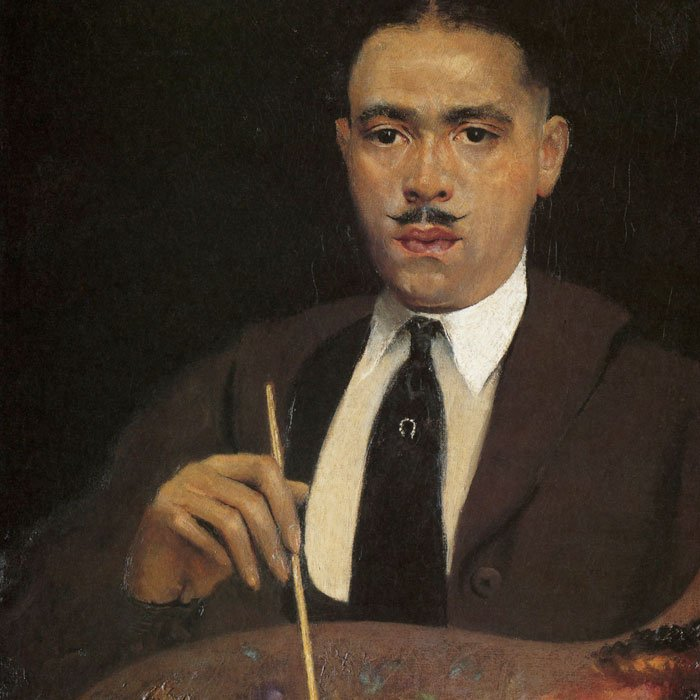 Self-portrait painting by Archibald Motley, Jr.