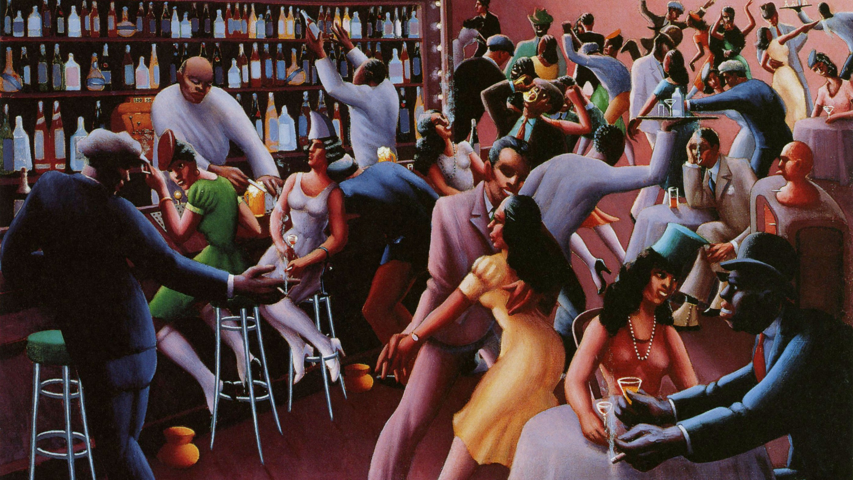 'Nightlife' painting by Archibald Motley, Jr.