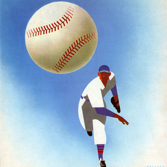 A Chicago Cubs official program designed by the Shepards in 1950