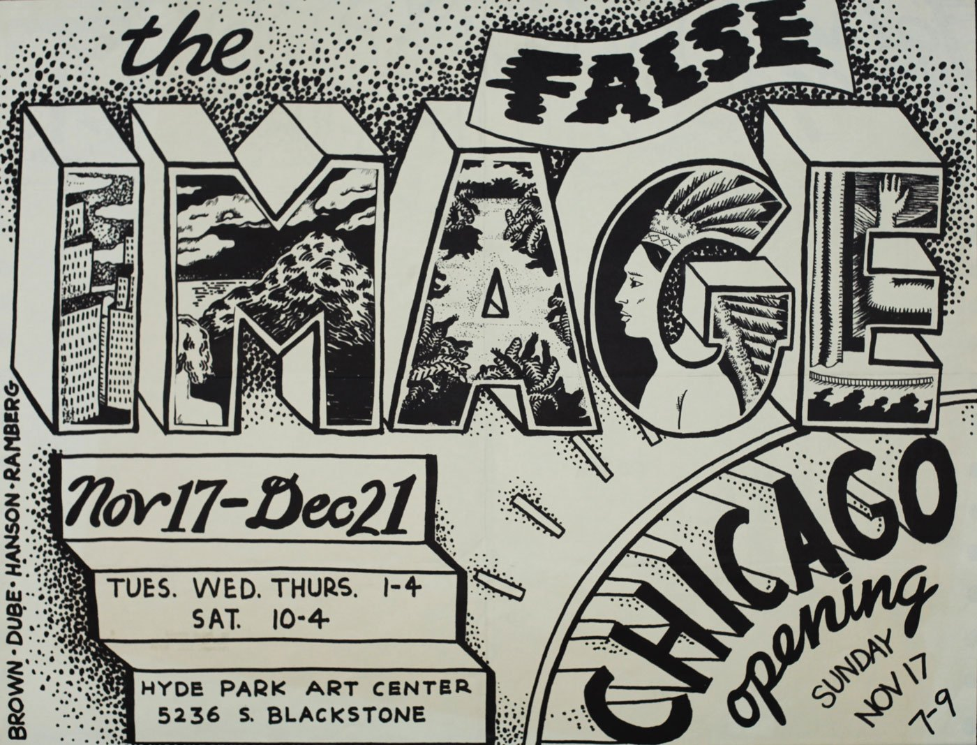An ad for the Hyde Park Art Center's False Image exhibition, 1968