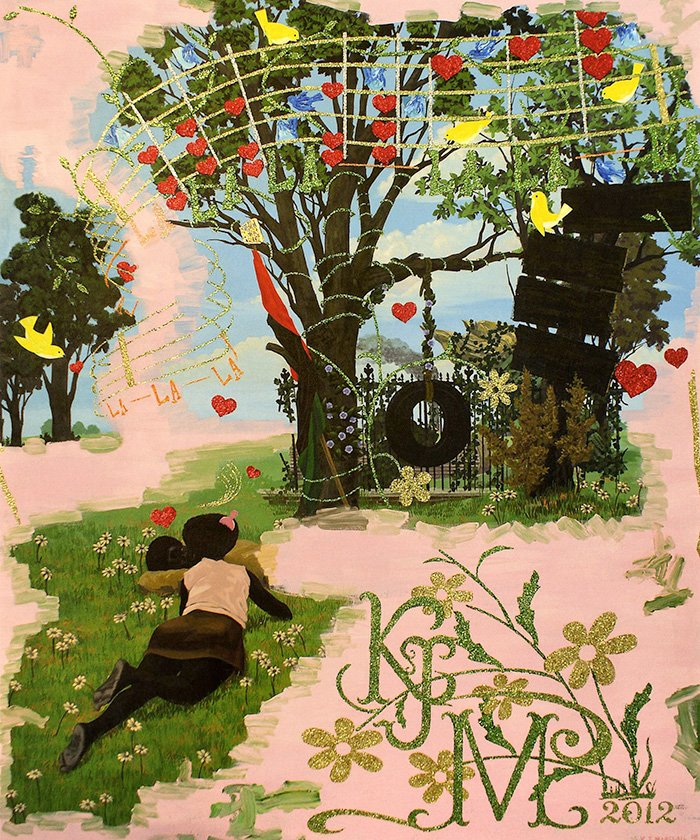 Untitled (Vignette) by Kerry James Marshall, 2012