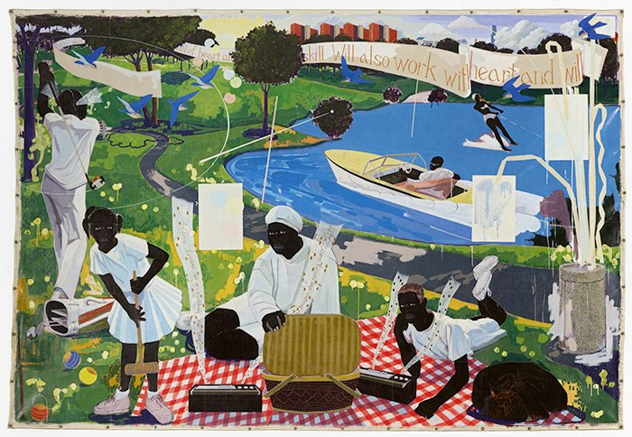 'Past Times by Kerry James Marshall, 1997