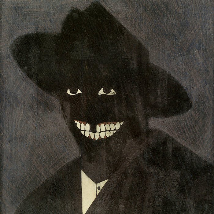 A Portrait of the Artist as a Shadow of His Former Self by Kerry James Marshall, 1980