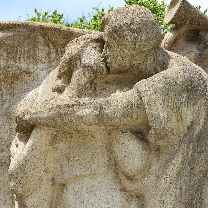 detail from Lorado Taft's Fountain of Time in Washington Park
