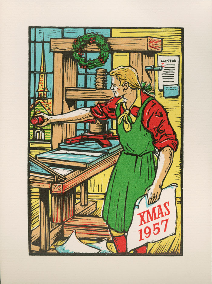 Chrimstas card designed by Robert Hunter Middleton