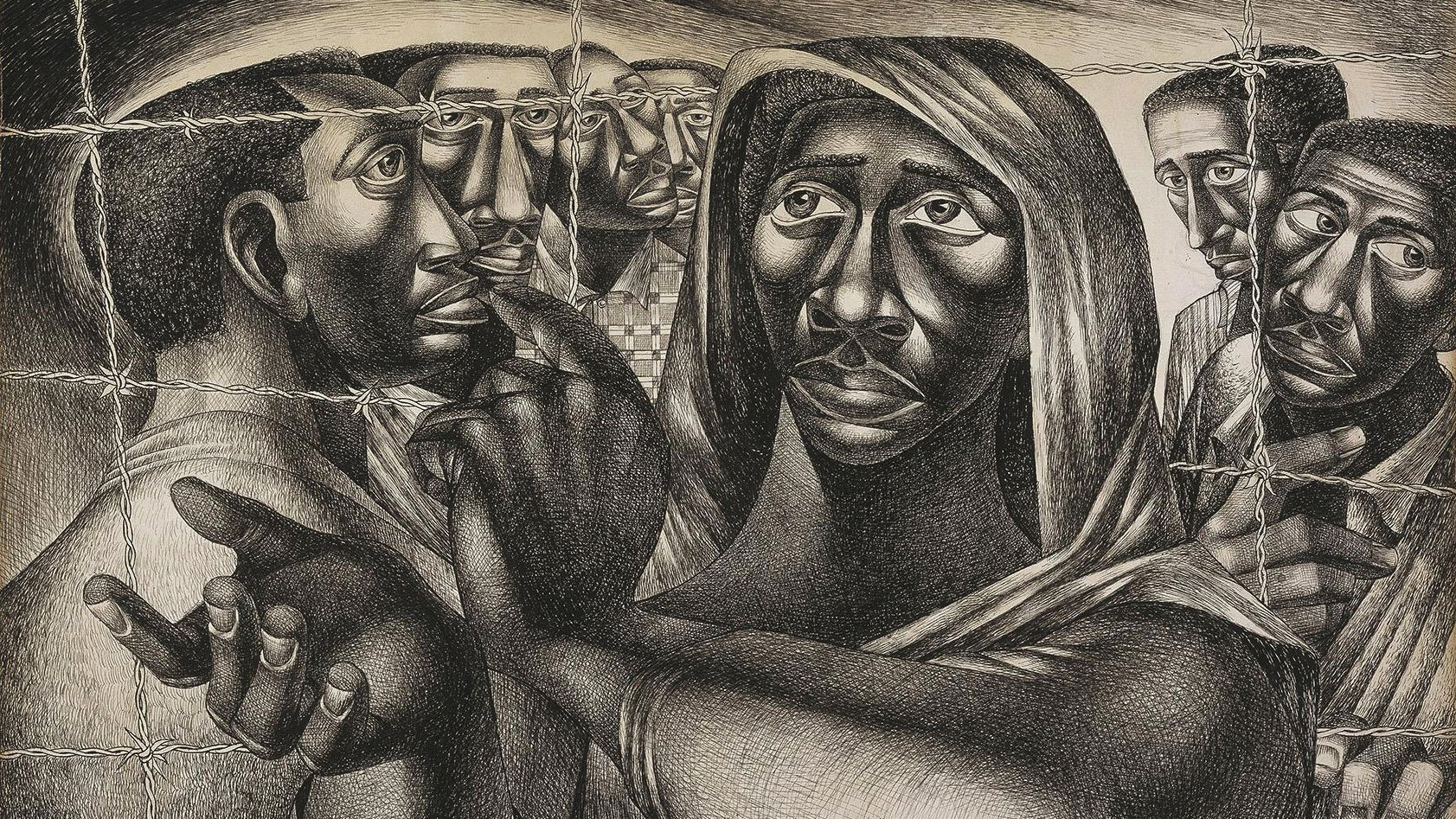 Trenton Six by Charles White, 1949