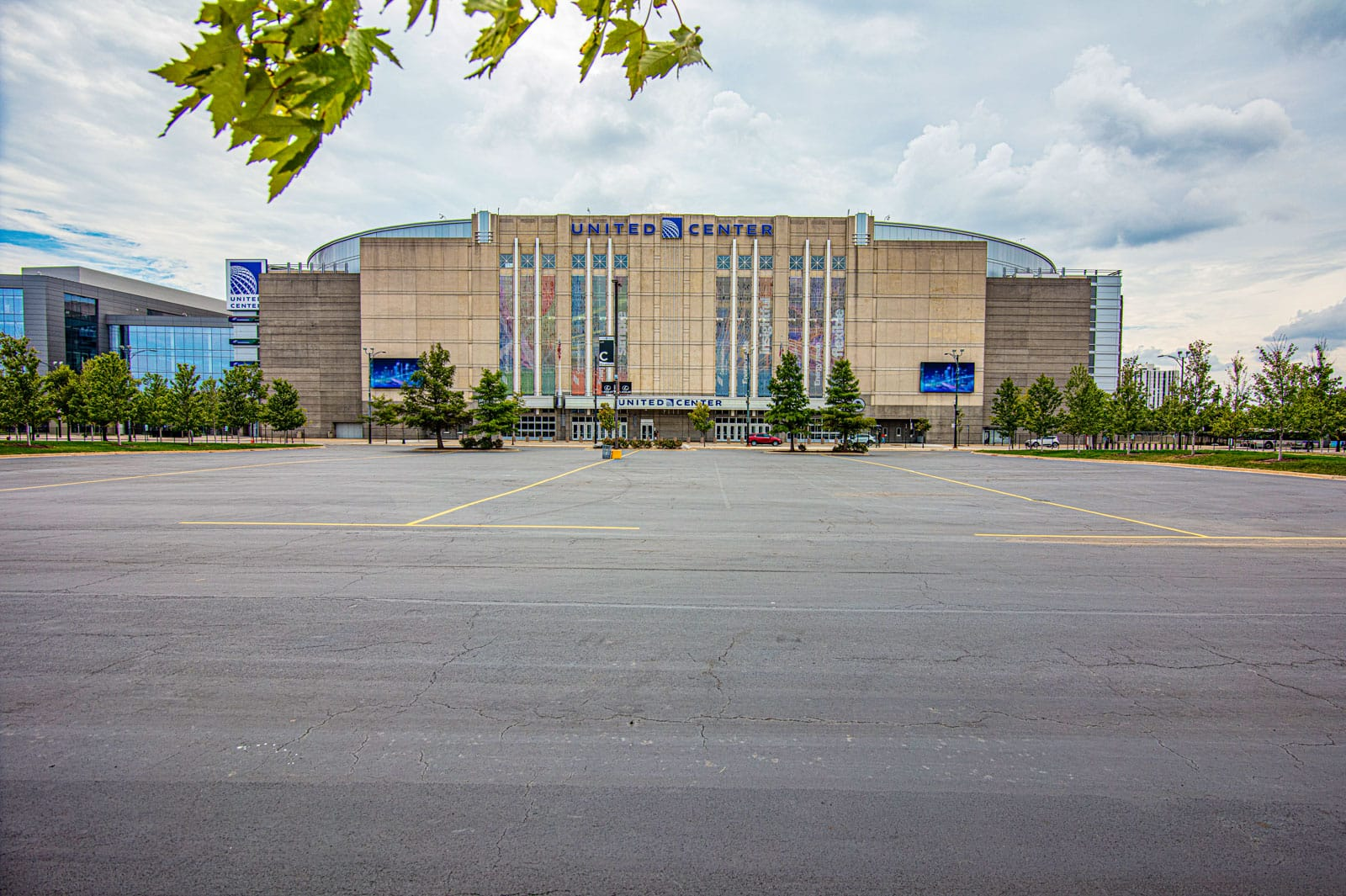 The site of the former Chicago Stadium at 1800 W. Madison St., in front of the United Center