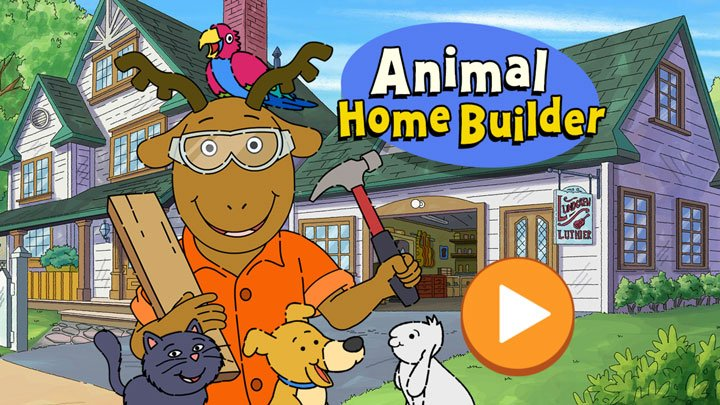 Play Arthur's Animal Home Builder game