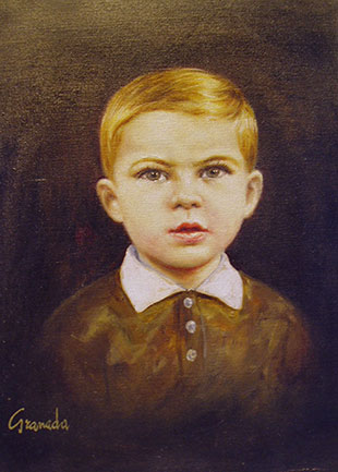 Pier Carlo Bontempi as a child