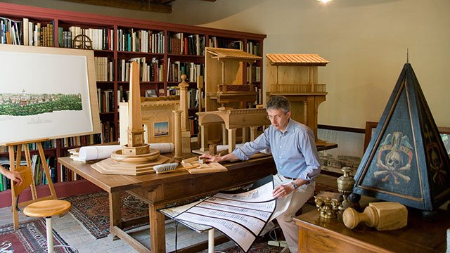 Pier Carlo Bontempi in his office