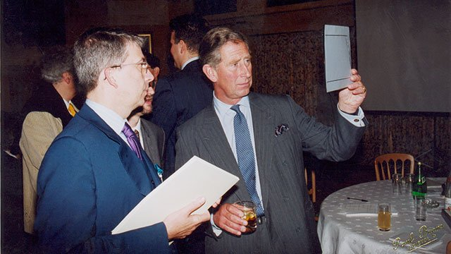 Pier Carlo Bontempi with Prince Charles