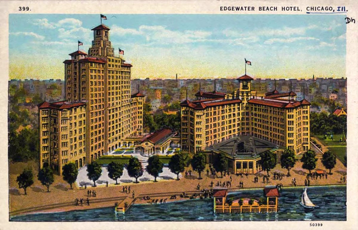 Postcard of the Edgewater Beach Hotel
