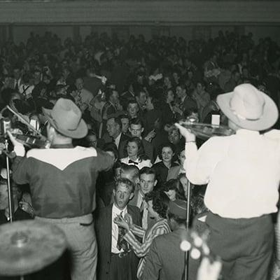 Bob Wills and His Texas Playboys at Cain's Ballroom in Tulsa, Oklahoma, 1940. Photo: Courtesy of Marty Stuart Archives