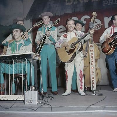 Little Jimmy Dickens on the Grand Ole Opry, Nashville, c.1955 Photo: Courtesy of Les Leverett Collection