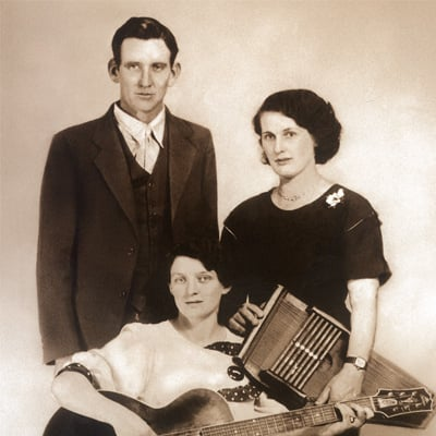 The Original Carter Family. From left: A.P., Maybelle, and Sara Carter, c.1930. Photo: Courtesy of Carter Family Museum