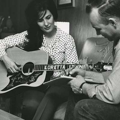 Loretta Lynn and her husband Oliver Doolittle, 1965 Photo: Courtesy of Les Leverett photograph, Grand Ole Opry Archives