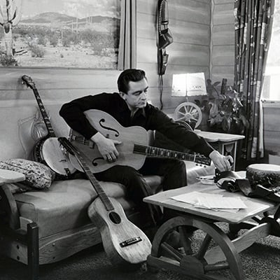 Johnny Cash at his home in California, 1960. Photo: Courtesy of Sony Music Archives