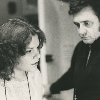 Rosanne and Johnny Cash, 1975. Photo: Courtesy of Cash Family Photos