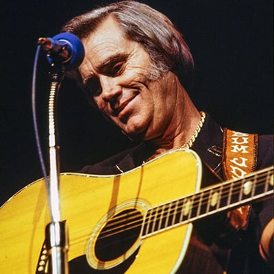 George Jones, 1982. Photo: Courtesy of Les Leverett photograph, Grand Ole Opry Archives