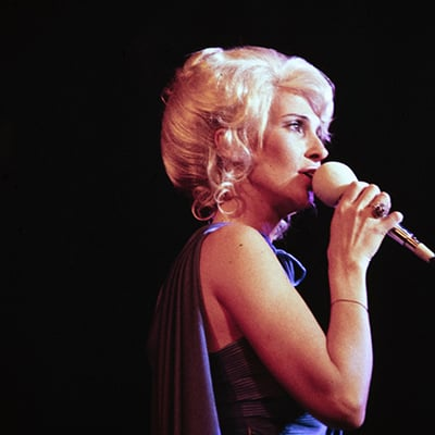 Tammy Wynette, 1977. Photo: Courtesy of Les Leverett photograph, Grand Ole Opry Archives