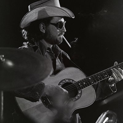 Willie Nelson, 1974. Photo: Courtesy of Estate of Alan L. Mayor and Theresa Mayor-Smith