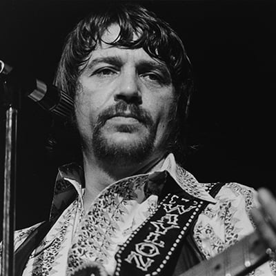 Waylon Jennings, Austin, Texas, 1974. Photo: Courtesy of Scott Newton