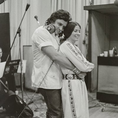 Johnny Cash and June Carter Cash New York City 1975 Photo: Courtesy of Sony Music Archives