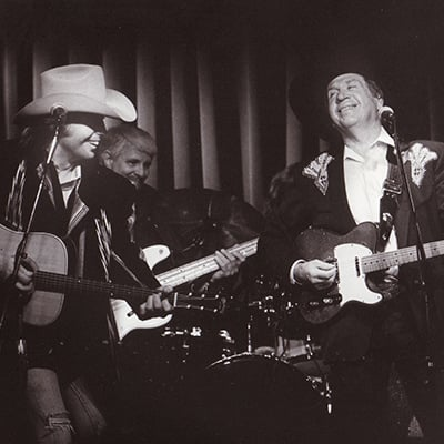 Dwight Yoakam and Buck Owens, c.1988. Photo: Courtesy of Buck Owens Private Foundation