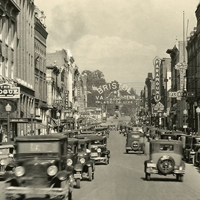 Downtown Bristol, c.1927. Photo: Courtesy of Bristol Historical Association