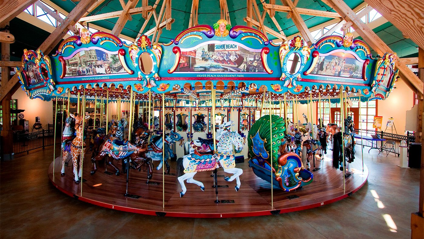 Silver Beach carousel in St. Joseph, Michigan