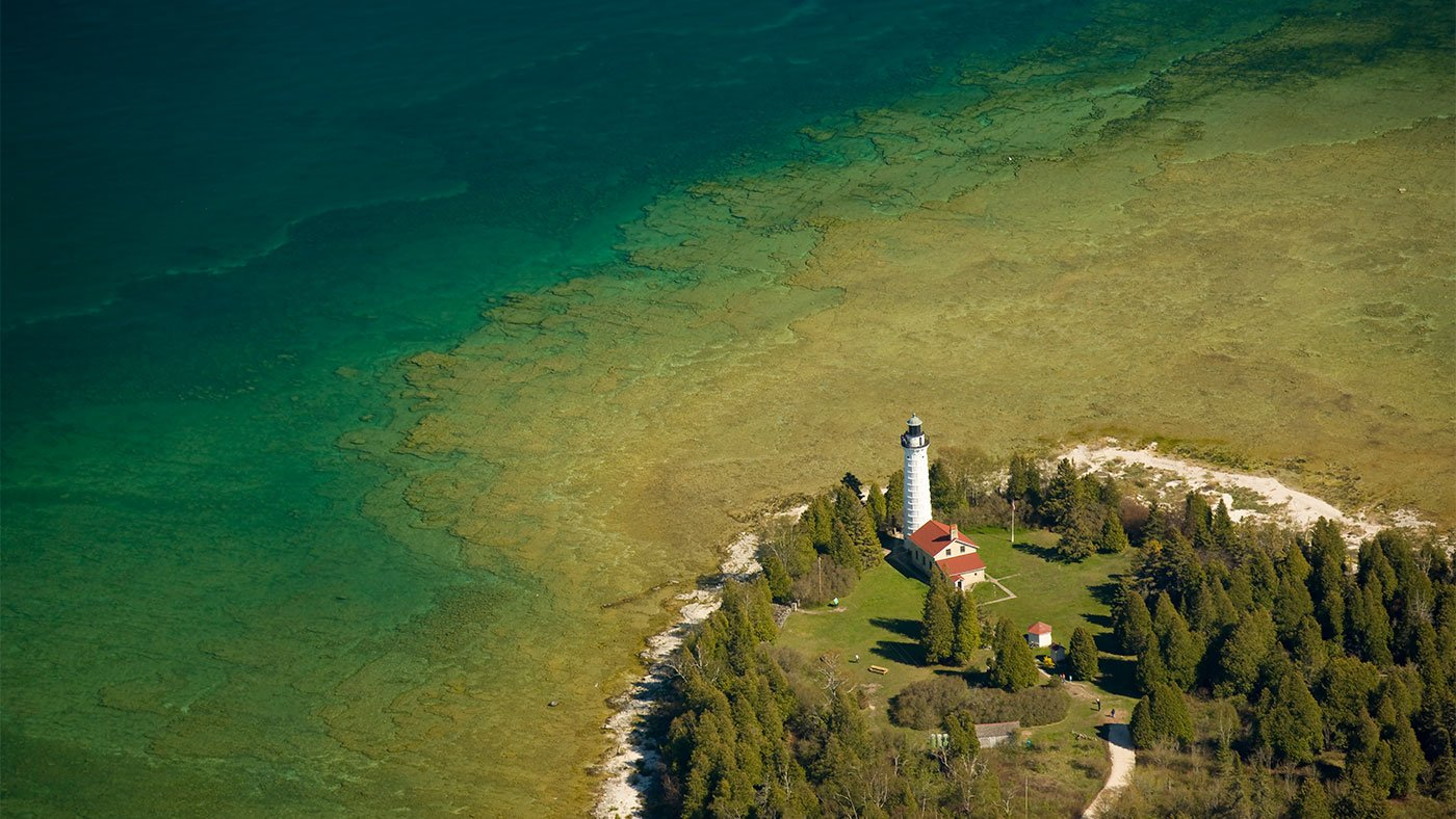 Cana Island Lighthouse in Baileys Harbor, Wisconsin