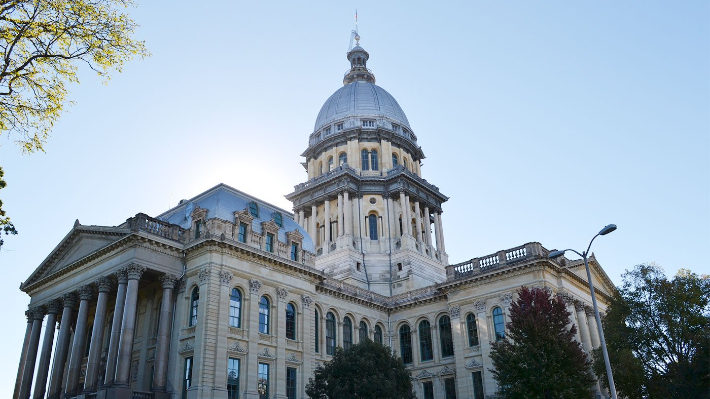 The Illinois State Capitol building