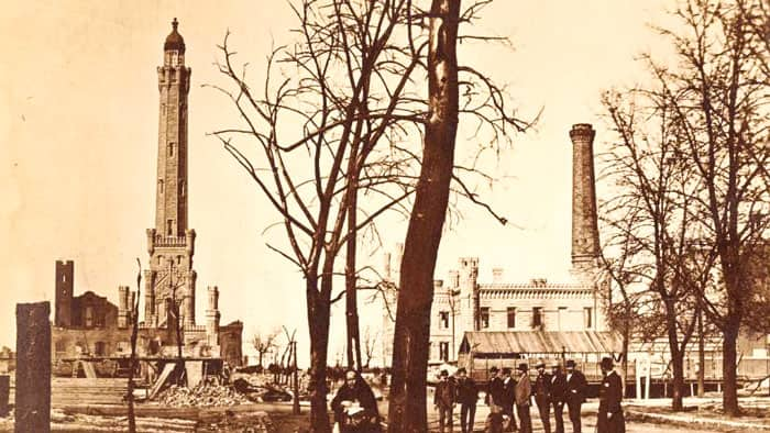 The Water Tower, pictured  right after the fire