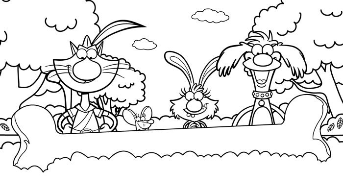 Nature Cat | Coloring Pages | WTTW Chicago