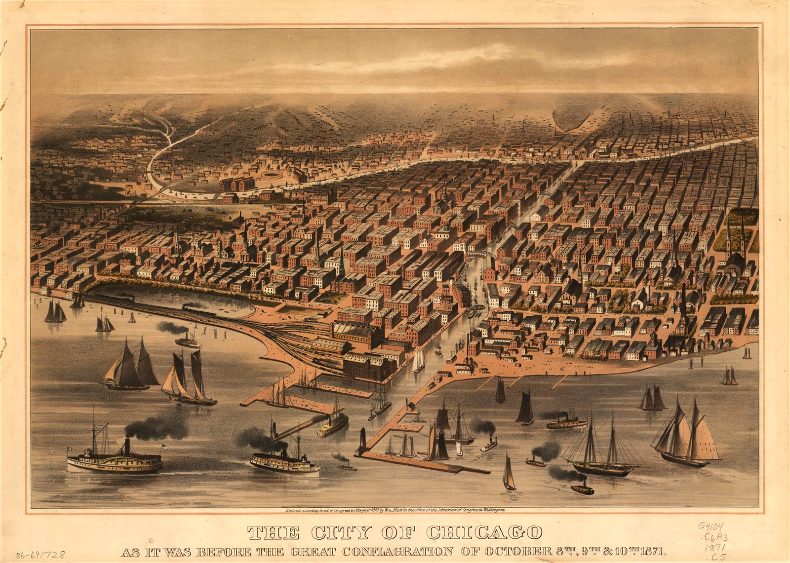 View of Chicago before Fire of 1871