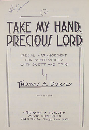 Title page of 'Take My Hand, Precious Lord'