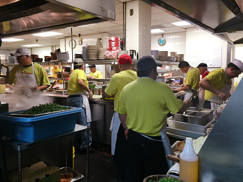 Kitchen at Bob Chinn's