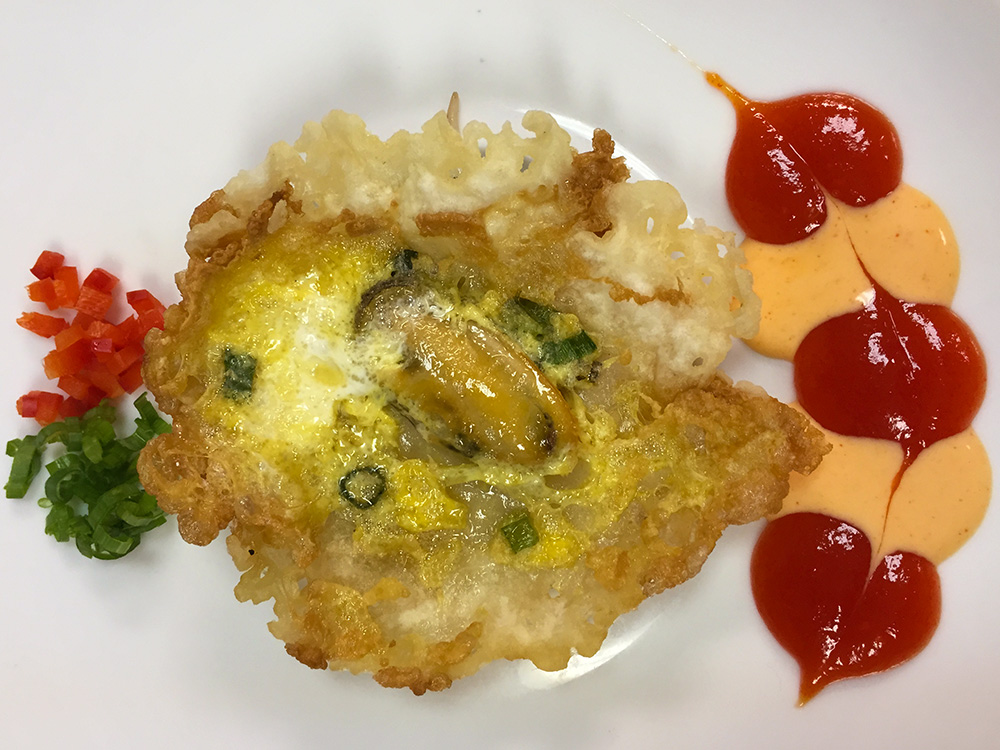 Mussel pancake