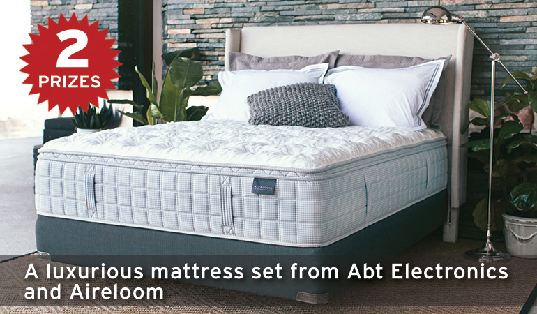 A luxurious mattress set from Abt Electronics and Aireloom