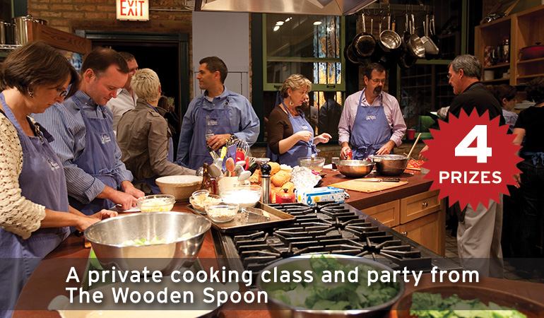 A private cooking class and party from The Wooden Spoon