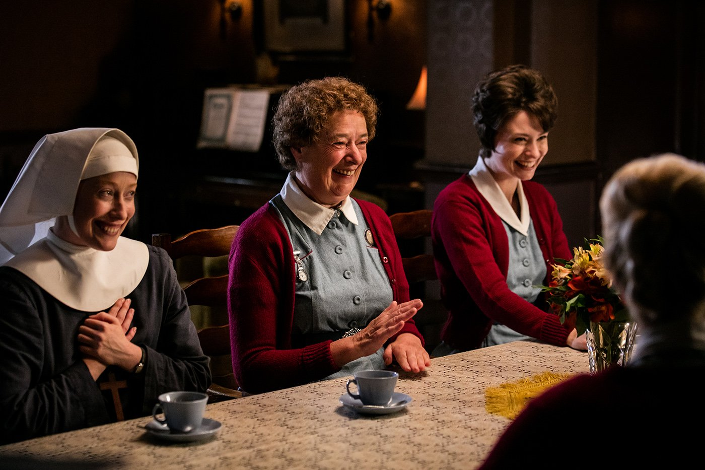 Sister Winifred, Nurse Crane, and Valerie Dyer in 'Call the Midwife.' Photo: Neal Street Productions 2016