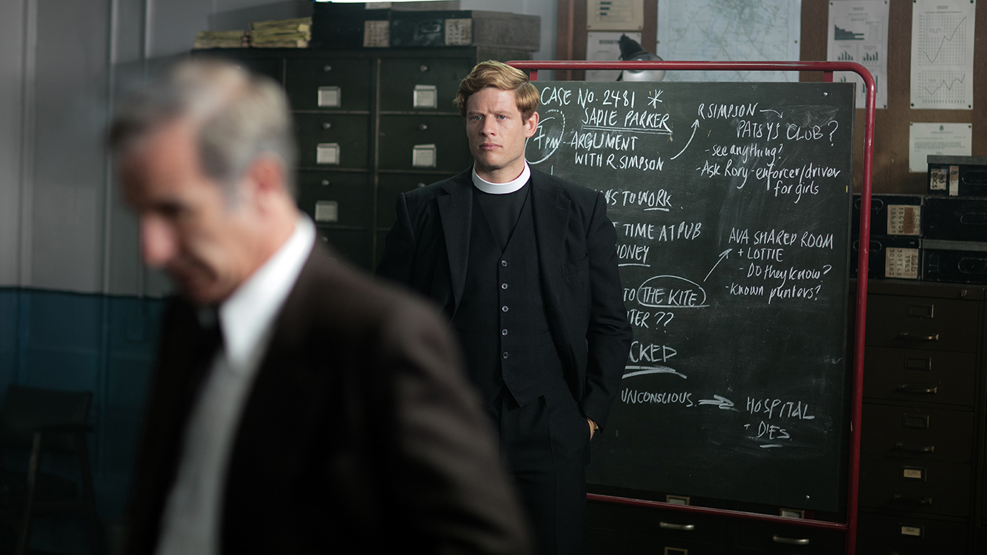 Robson Green as Geordie Keating and James Norton as Sidney Chambers in Endeavour. Photo: Kudos and MASTERPIECE