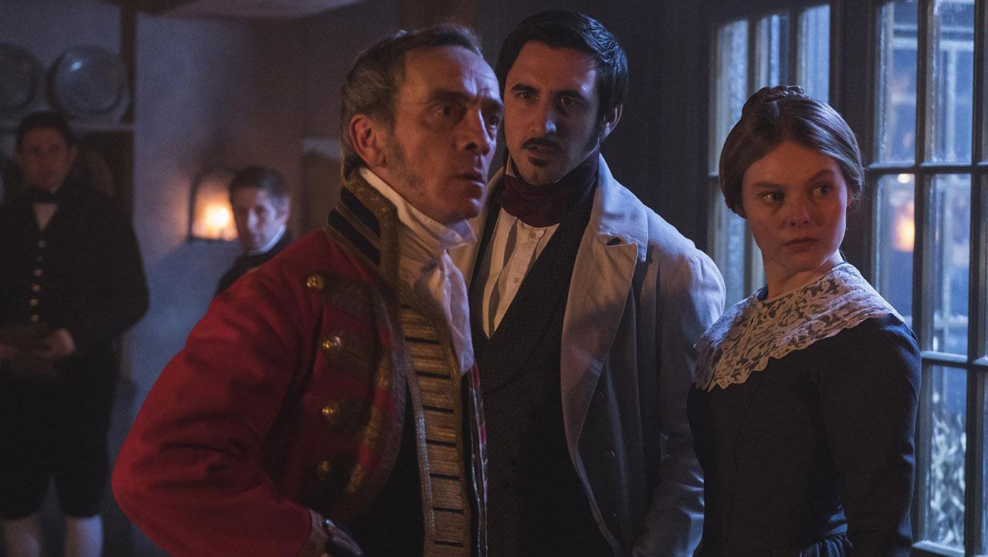 Penge, Francatelli, and Skerrett in Victoria. Photo: ITV Studios