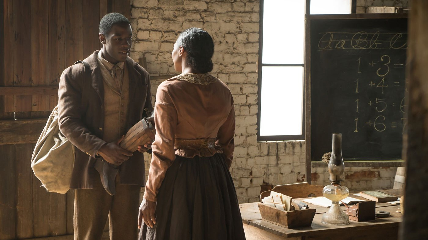 Samuel Diggs and Charlotte Jenkins on Mercy Street. (Courtesy of PBS/Erik Heinila)