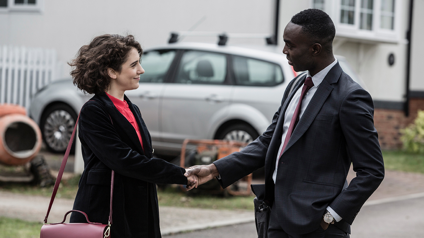 Leona (Ellie Kendrick) and Ed (Paapa Essiedu) in Press. Photo: Lookout Point / Gary Moyes