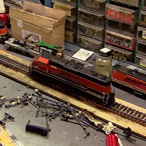 model train in shop