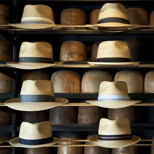hats on rack