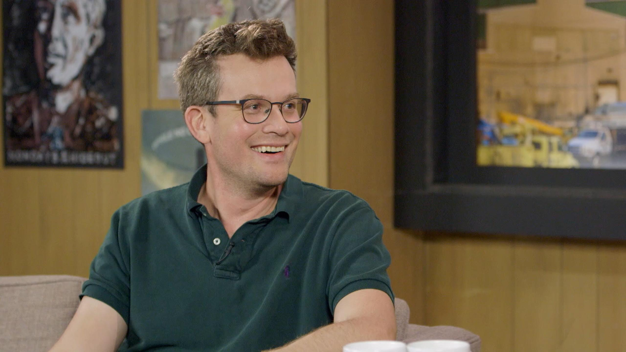 John Green being interviwed